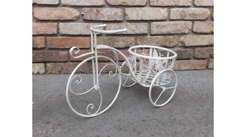 Kovácsoltvas virágtartó bicikli 54 cm