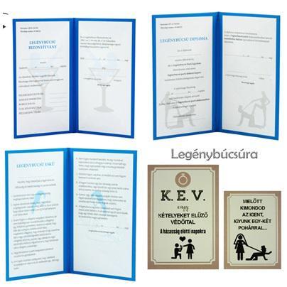 Legénybúcsúra választható diploma/eskü/bizonyítvány + 2 db-os üvegcímke