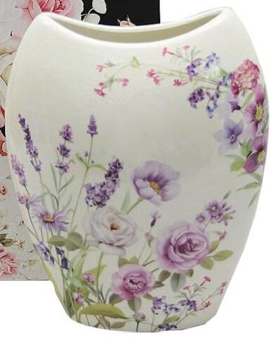 Levendulás porcelán váza