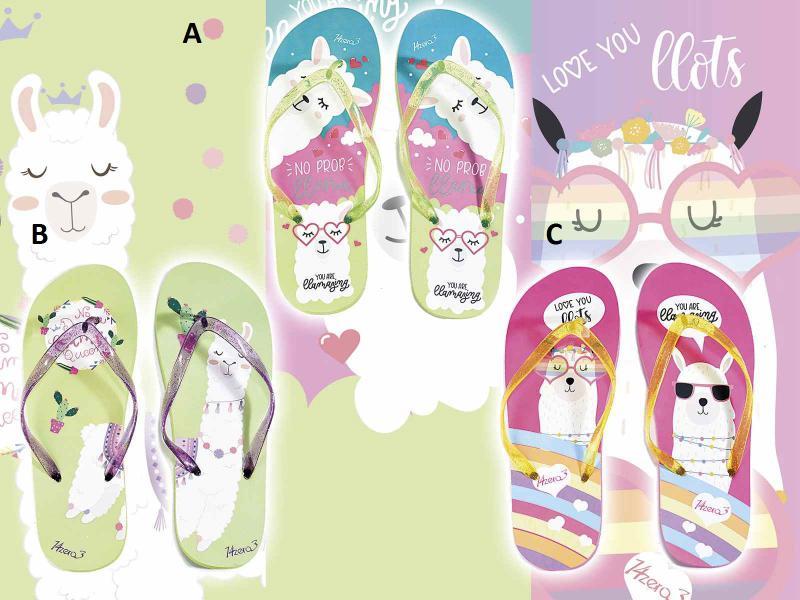 Női papucs lámás nyomtatással és csillogó pánttal, 3 féle színben