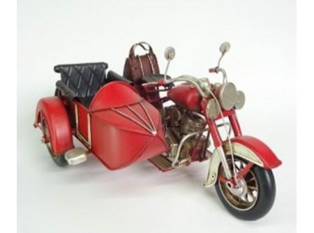 Oldalkocsis motor makett, retro