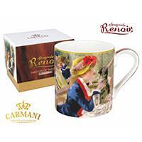 Renoir porcelán bögre díszdobozban - Hölgy macskával