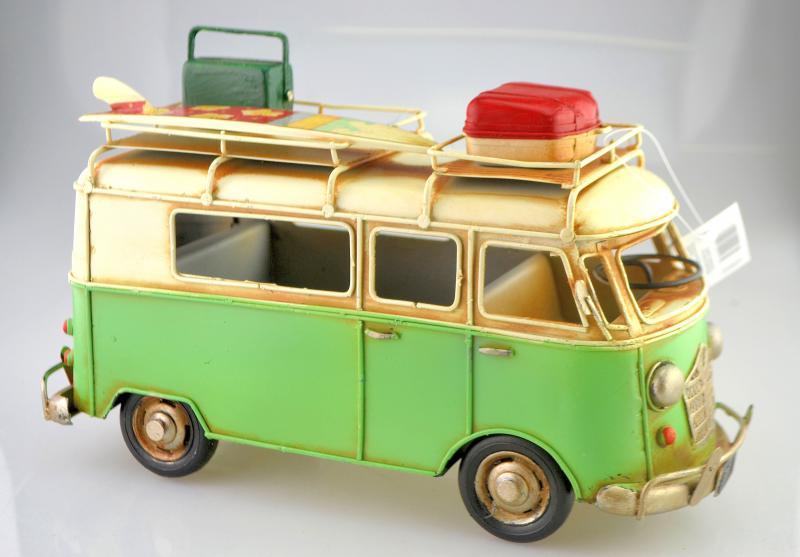 Retro hippi busz, makett