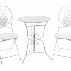Kerti asztal és szék szett, fémből készült