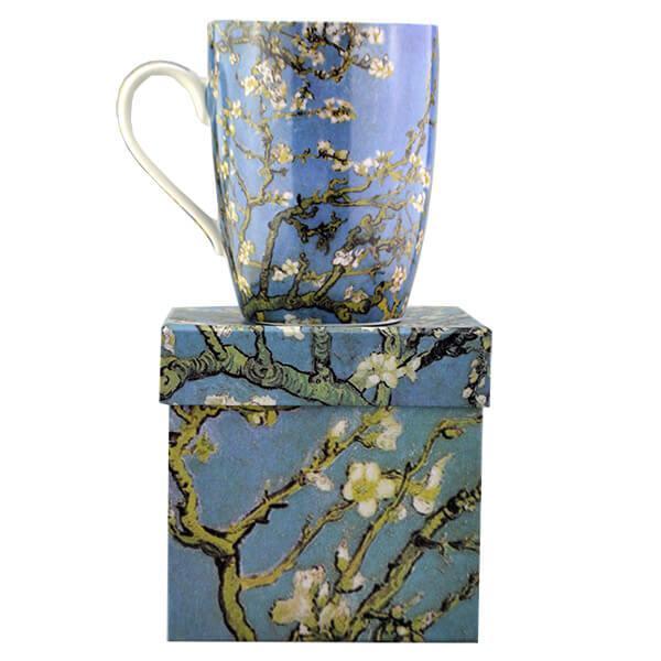 Van Gogh Mandulavirágzás porcelán bögre 325 ml - díszdobozos