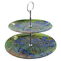 Van Gogh Mandulavirágzás vagy Íriszek emeletes süteményes tál - díszdobozos