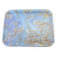 Van Gogh Mandulavirágzás vagy Íriszek műanyag tálca - 39,5x29 cm