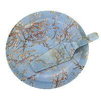Van Gogh Mandulavirágzás vagy Íriszek tortatál süteményes lapáttal - díszdobozos