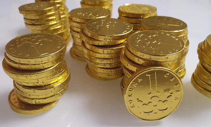 Érmék Tejcsokoládé 400 gr (98-100 db)