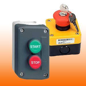 Nyomógombok, LED-es jelzők