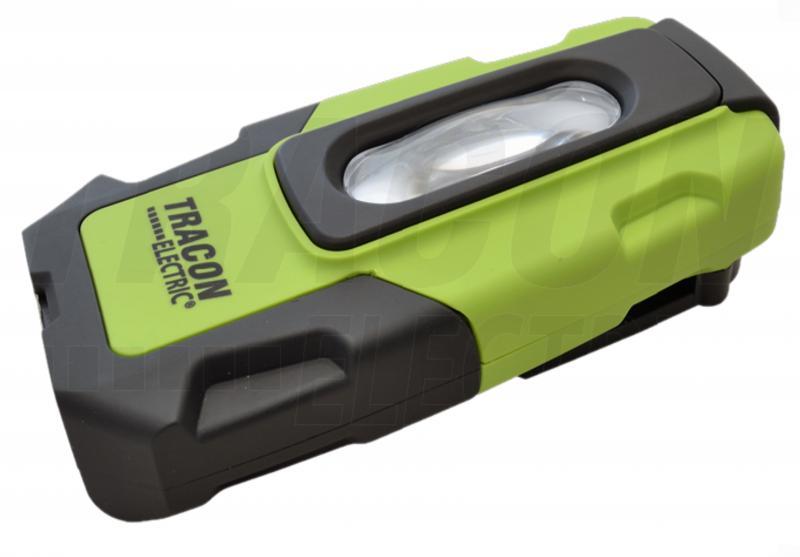 Akkumulátoros LED kézi lámpa USB töltő kimenettel