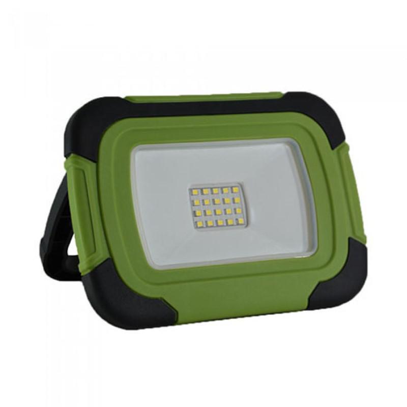 Akkumulátoros LED reflektor 10W/100° zöld/fekete