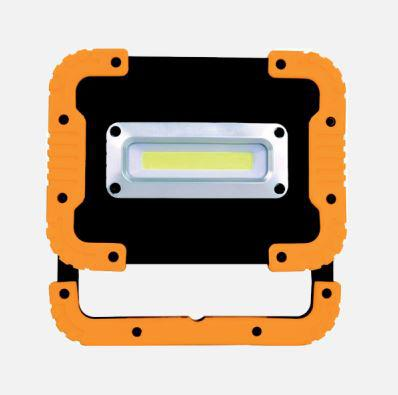 Akkumulátoros LED reflektor 10W/110° narancs/fekete