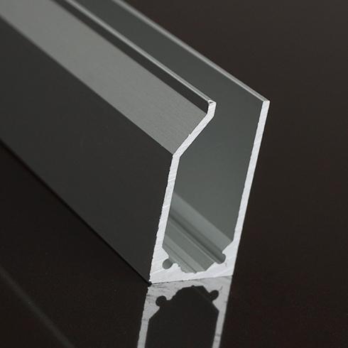 Alu profil eloxált ezüst LED szalaghoz
