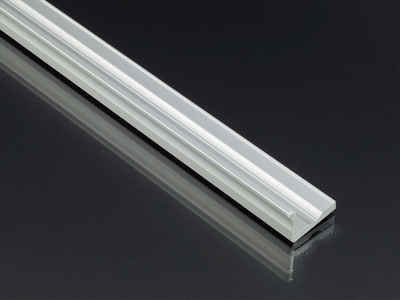 Alumínium L profil LED szalaghoz 16x10 mm alumínium