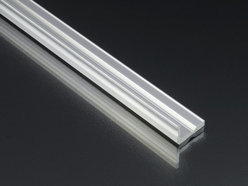 Alumínium L profil LED szalaghoz 16x10 mm ezüst