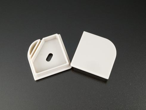 Alumínium LED profil végzáró  ALP-016S profilokhoz