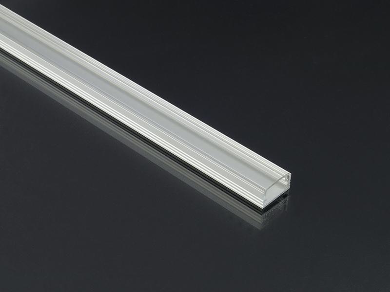 Alumínium profil LED szalaghoz 002 mini átlátszó
