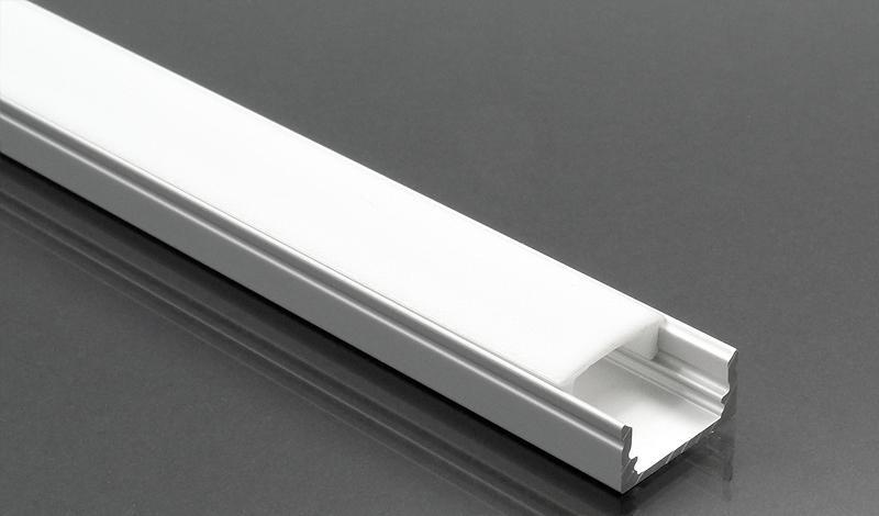 Alumínium profil LED szalaghoz 002 opál