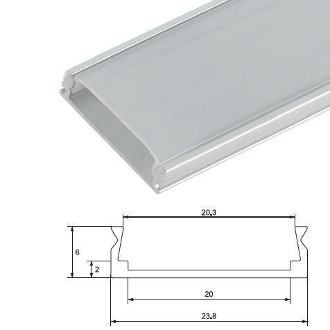 Alumínium profil LED szalaghoz 6220/1