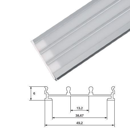 Alumínium profil LED szalaghoz 950/2 matt