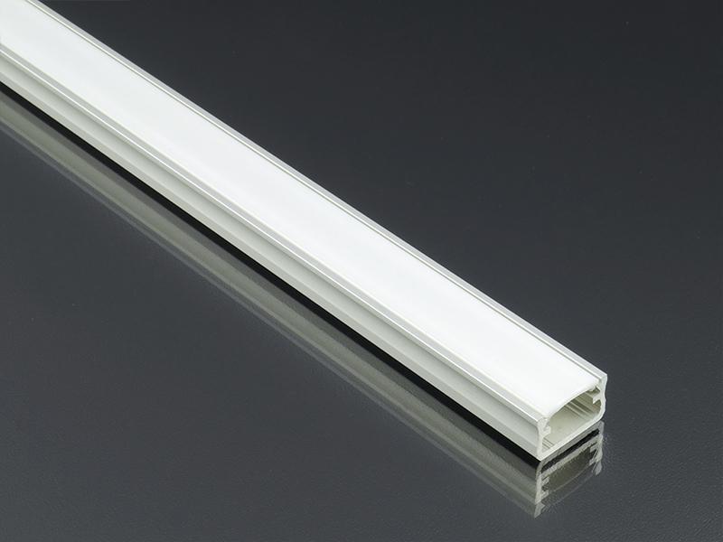 Alumínium profil LED szalaghoz eloxált Lumines A típus félig átlátszó