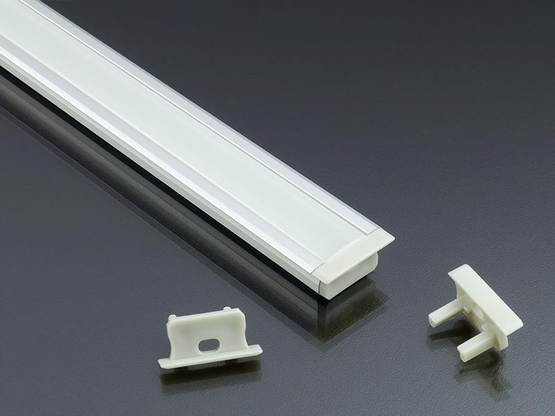 Alumínium profil LED szalaghoz eloxált Lumines B típus opál