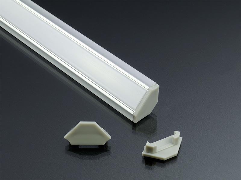 Alumínium profil LED szalaghoz eloxált Lumines C típus opál