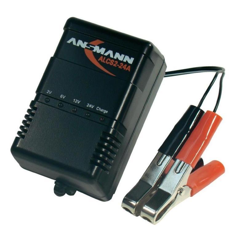Annsmann akkumulátor töltő 6V,12V, 24V 0,9A [ALCS2 24]