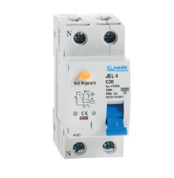 Áram-védőkapcsoló 2 pólusú kombinált (Fi-relé) 10A 30mA C10