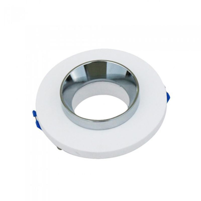 Beépíthető fix süllyeszthető kör spot lámpatest Fehér-króm IP20