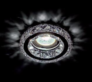 Beépíthető spot lámpatest kristály kör