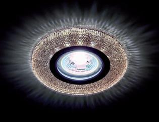 Beépíthető spot lámpatest kristály kör CR-772/KÁVÉ 3W 4000K