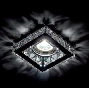 Beépíthető spot lámpatest kristály szögletes