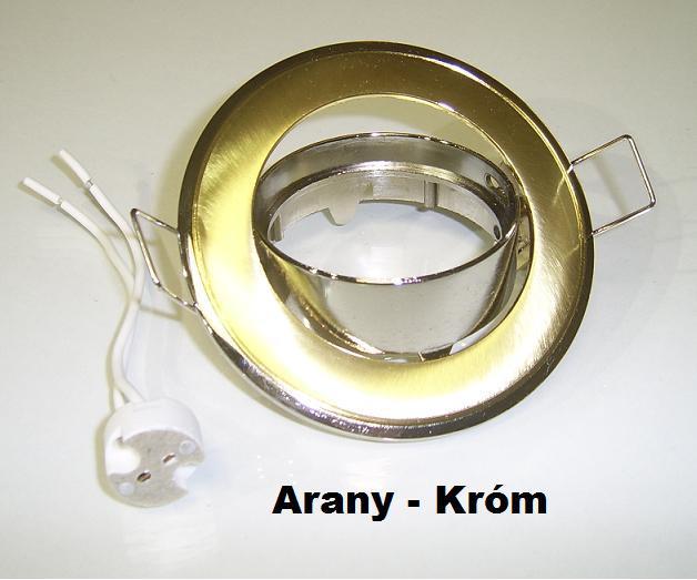Beépíthető spot lámpatest SA-91 Arany-króm