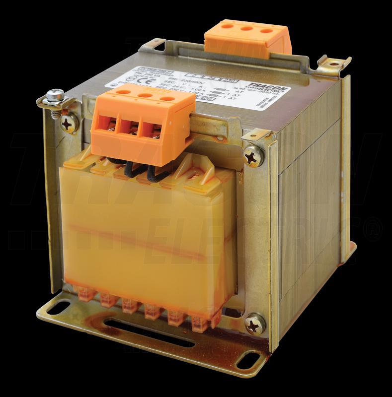 Biztonsági, egyfázisú kistranszformátor 230-400V / 12-24V, max.250VA