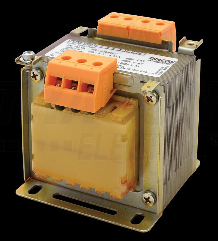 Biztonsági, egyfázisú kistranszformátor 230-400V / 6-12-24V 100VA