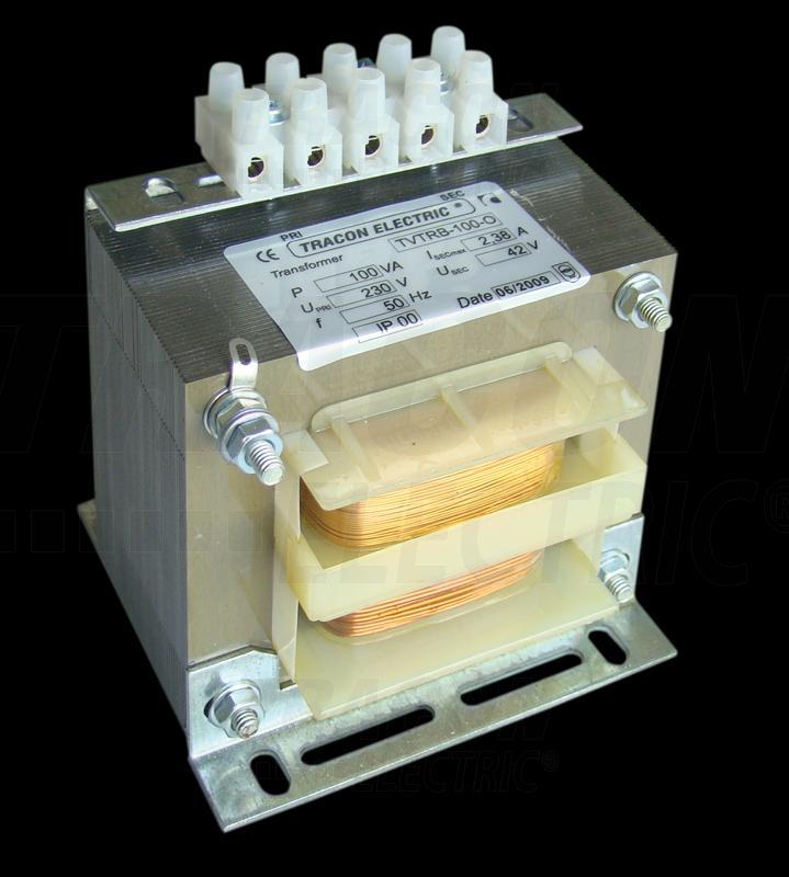 Biztonsági, egyfázisú kistranszformátor 230V / 42V, 100VA