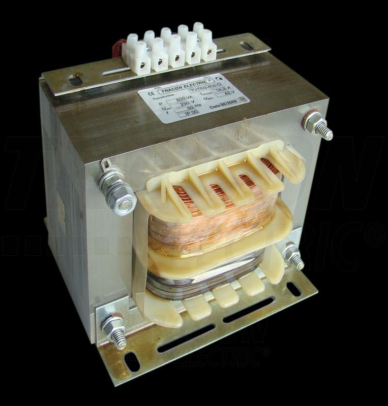 Biztonsági, egyfázisú kistranszformátor 230V / 42V, 600VA