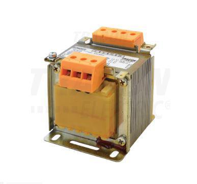 Biztonsági, egyfázisú kistranszformátor 230V 60VA 24-12-6V