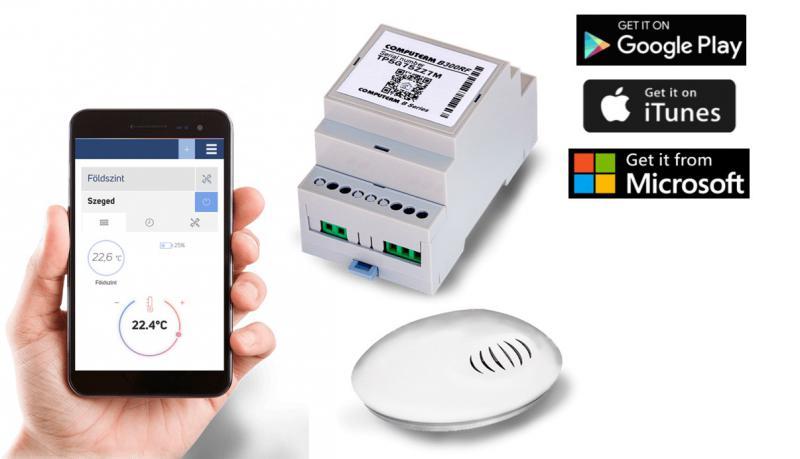 Computherm B300RF Wi-Fi termosztát vezeték nélküli  hőérzékelővel