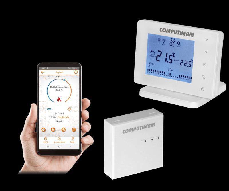 Computherm E400RF Wi-Fi termosztát érintőgombos vezérlővel