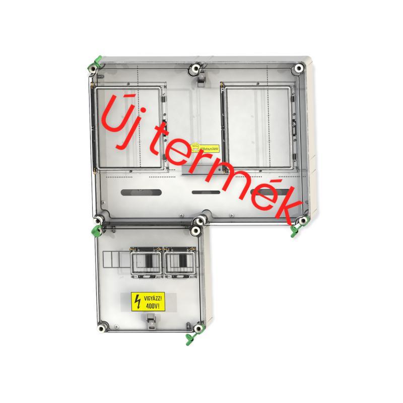 CSATÁRI PLAST PVT 6075 Á-V FM-SZ 1/3 fázisú kombinált villanyóra szekrény (N.+É) 80A szabadvezetékes