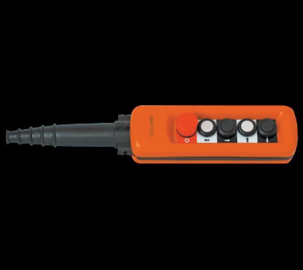 Daruvezérlő függőkapcsoló 4 gombos + biztonsági kulcsos kapcsolóval
