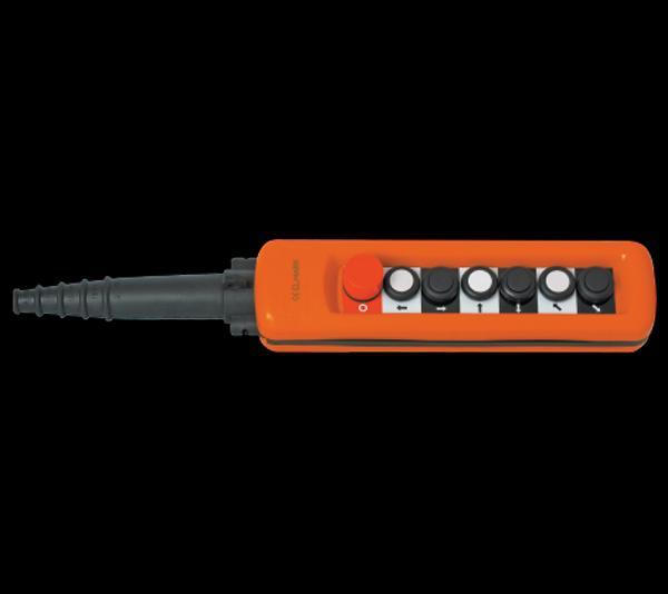 Daruvezérlő függőkapcsoló 6 gombos + biztonsági kapcsolóval 2 sebességes