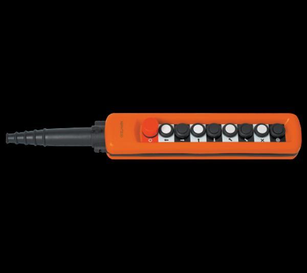 Daruvezérlő függőkapcsoló 8 gombos + biztonsági kapcsolóval 2 sebességes