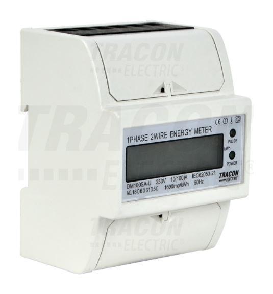Digitális egyfázisú fogyasztásmérő 4 modul