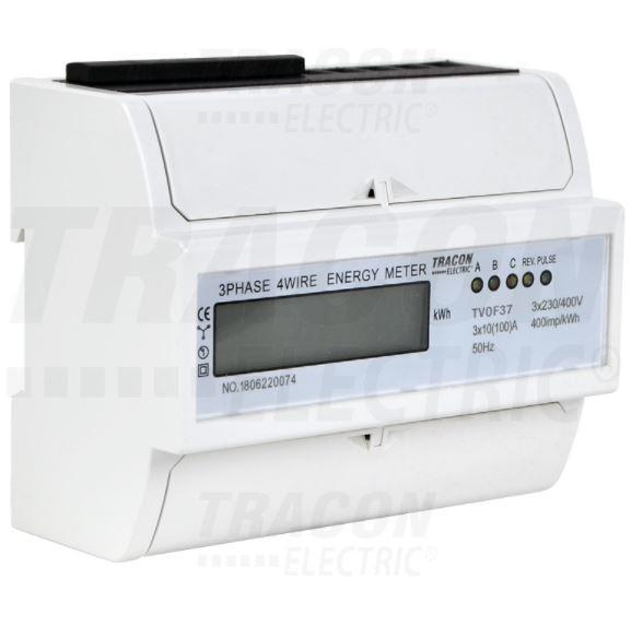 Digitális fogyasztásmérő 3 fázisú 7 modul