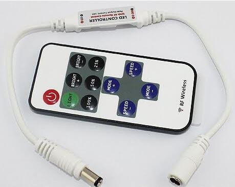 Dimmer fényerőszabályzó micro 144W távirányítóval