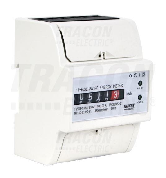 Elektromechanikus fogyasztásmérő 1 fázisú közvetlen, 4 modul